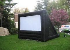 Giant Movie Screen With Projector