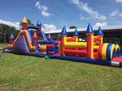 Marble 20' backload slide with marble bounce house