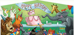 Happy Birthday Animals Panel