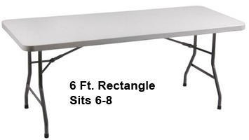6 Ft. Table