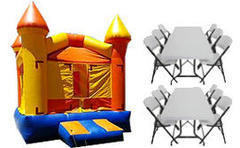 [Party Package] 10x10x10 Castle Jumper w/2 Tbls & 16 Chairs