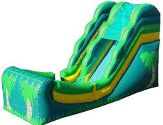 <b>Tropical Half Pipe Dry Slide 18 Ft.</b><br><small><font color=grey>Made in 2016 - Best For Ages 1-18