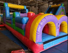 40 foot Vertical Rush Obstacle Course And Small Slide
