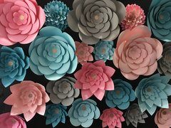 Paper Flowers and Floral Backdrops