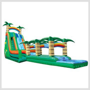 22ft Tropical Dual Lane w/ Slip n Slide