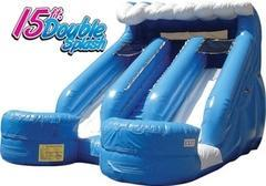 15 Foot Double Splash Slides