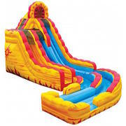 22 Foot Fire & Ice Dual Height Slide