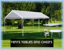 Tents Tables and Chairs