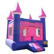 Pink and Purple Castle Bouncer