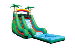 16ft Tropical Super Splash Water Slide