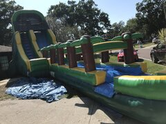 22 foot slide with slip and slide