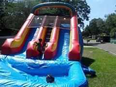 18ft Dual Lane Dry Slide