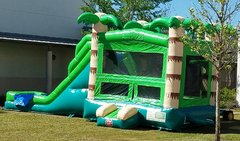 Tropical Island Bounce House Combo