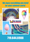 Summertime Deluxe Package!  Waterslide AND slip-n-slide, 2 tables, 16 chairs, Snow Cone Machine!