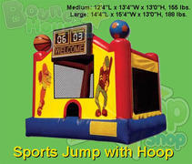 Sports Jumper with Hoop Bounce House