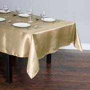 GOLD RECTANGULAR SATIN TABLECLOTH