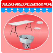 Tables & Chairs, Concessions & more