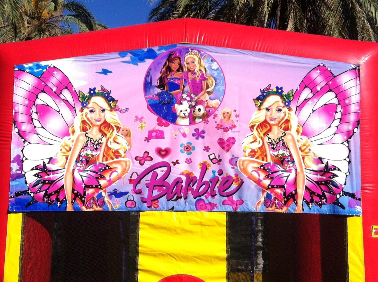 Barbie themed bounce House for Rent