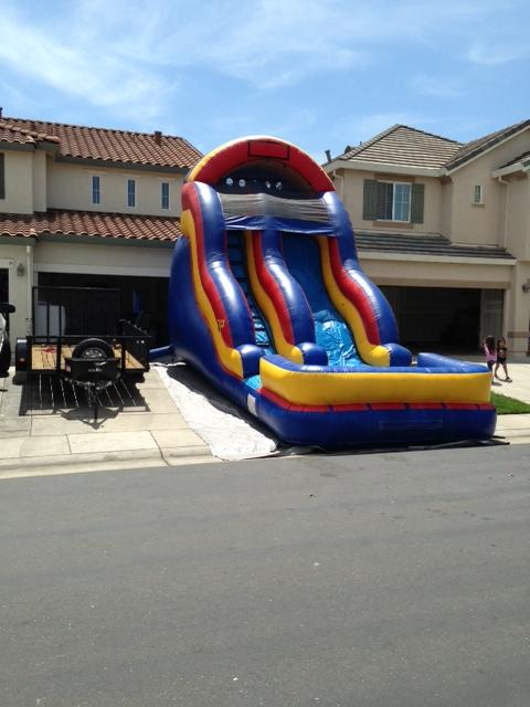 18' Bubble Water slide