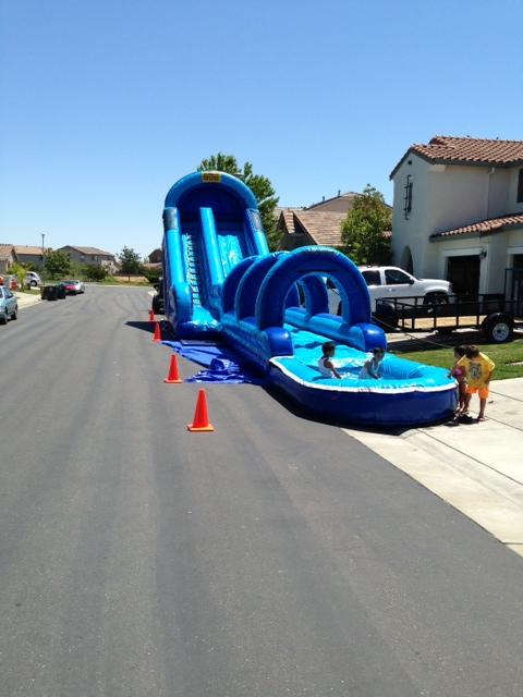 20' tall water slide slip n slide