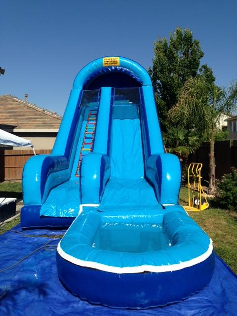 20' Blue water slide