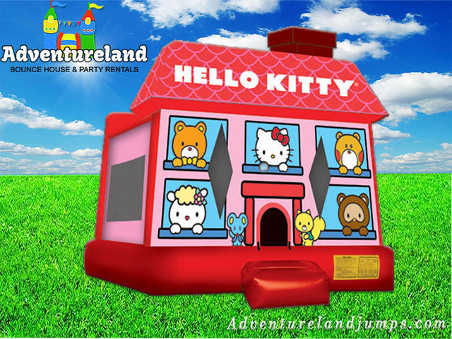 3D Hello Kitty Bounce House