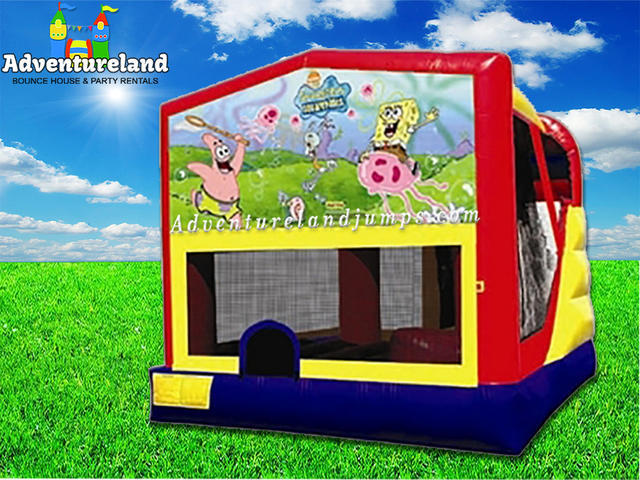 Sponge Bob Bounce House Water Slide