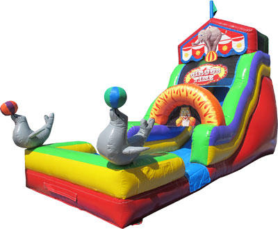 Circus Theme Water Slide Rental