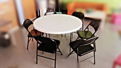"1 Round Table 48"" & 6 Chairs set"