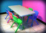1 Kids Table & 6 Chairs set