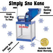 Manual Snow-Cone Machine, no electricity required