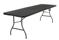 8 ft Black Table- Portable