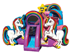 Dazzling Unicorn 4-in-1 Combo with Wet/Dry Slide- New!