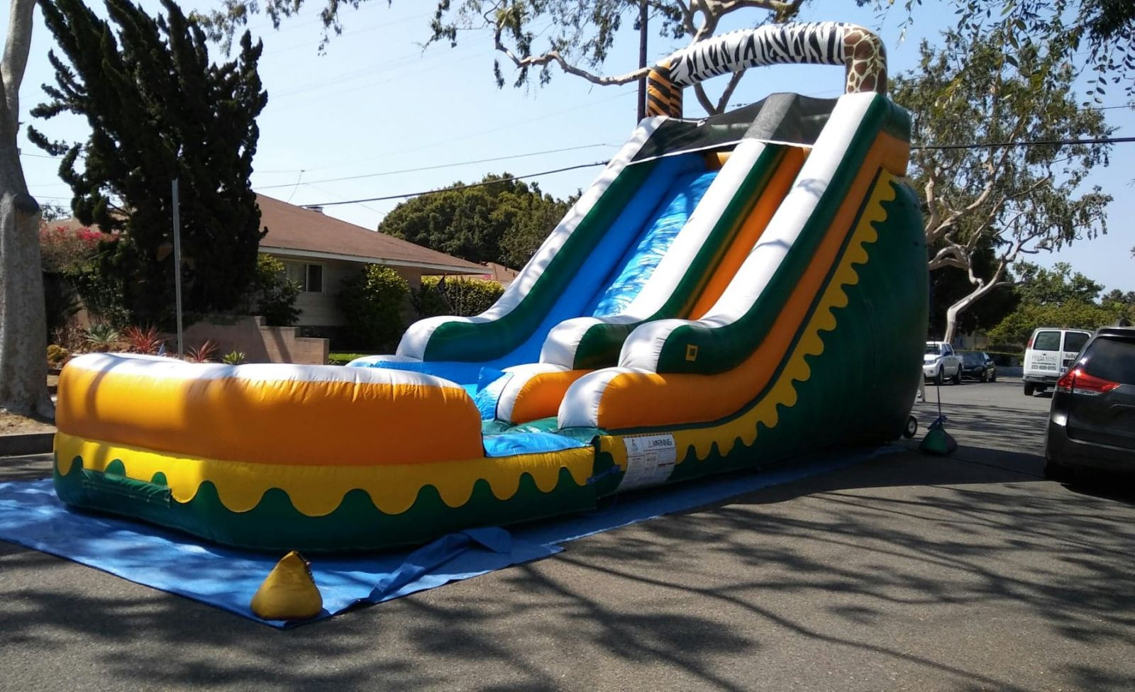 18ft Tall Big Water Slide Rental in Los Angeles