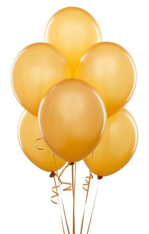 Gold Latex Balloons (w/Helium)