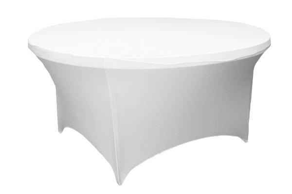 5' Round Tablecloth (Spandex/White)