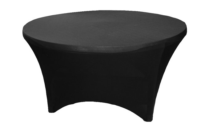 5' Round Tablecloth (Spandex/Black)