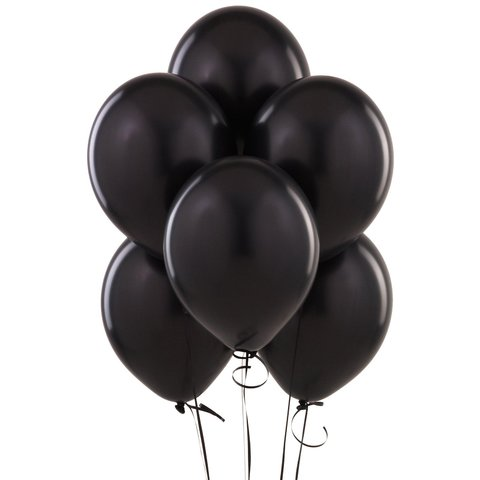 Black Latex Balloons (w/Helium)
