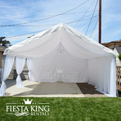 20'x50' Canopy Full Draped
