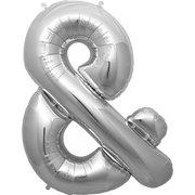 """&"" Silver Letter Inflated (34in)"