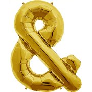 """&"" Gold Letter Inflated (34in)"