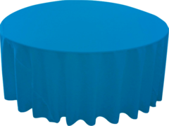 "120"" Round Tablecloth (Polyester/Turquoise)"
