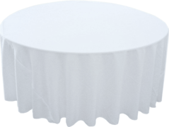"120"" Round Tablecloth (Polyester/White)"