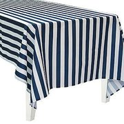 Navy Stripe Rectangle Tablecloth (Polyester)