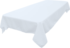 Rectangle Tablecloth (Polyester/White)