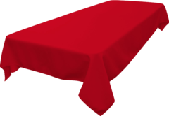 Rectangle Tablecloth (Polyester/Red)