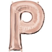 """P"" Rose Gold Letter Inflated (34in)"