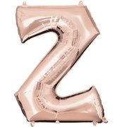 """Z"" Rose Gold Letter Inflated (34in)"
