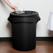 Trash Bin with Spandex Cover