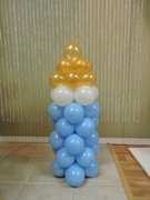 Balloon Baby Bottle Column (5ft Tall)
